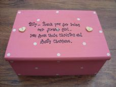Shabby Personalised Chic Jewellery flower girl Box..
